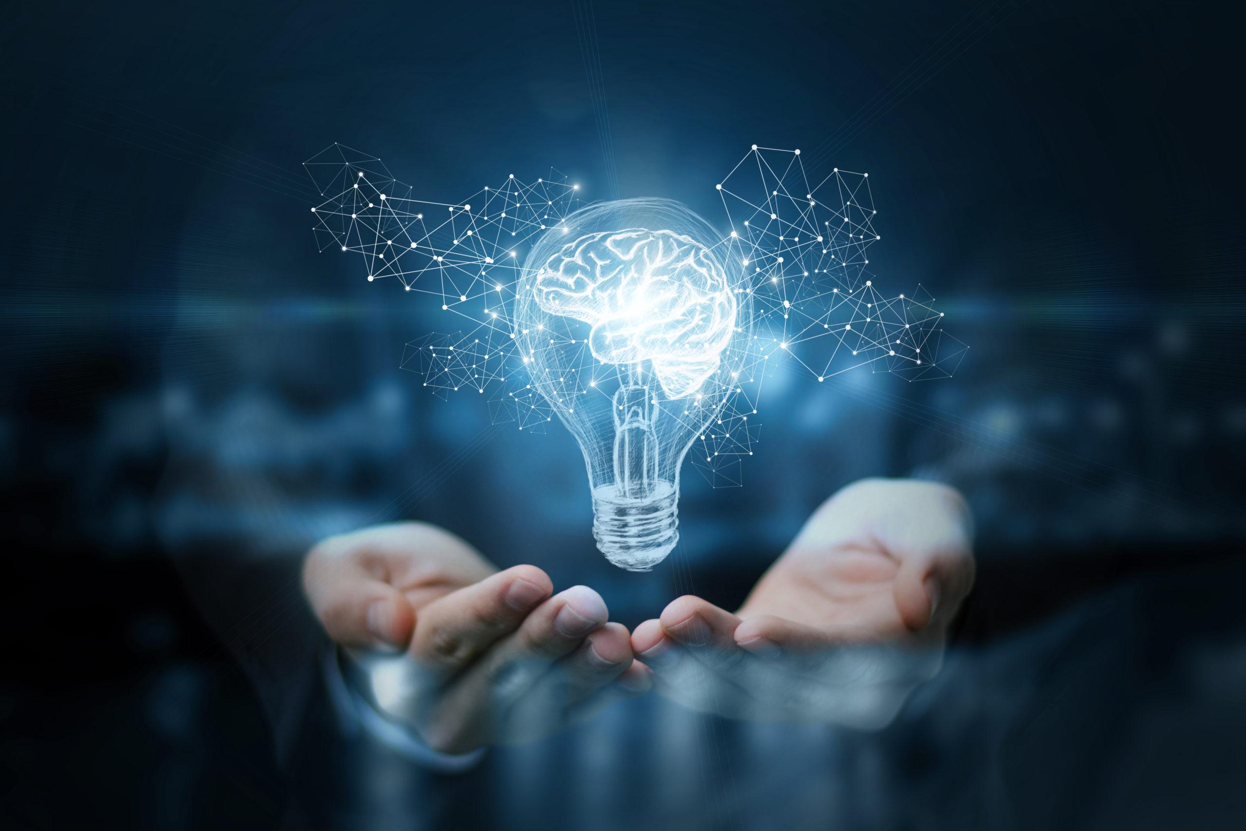 Immagine di lampadine con cervello